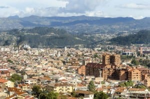 Cuenca as seen from the west